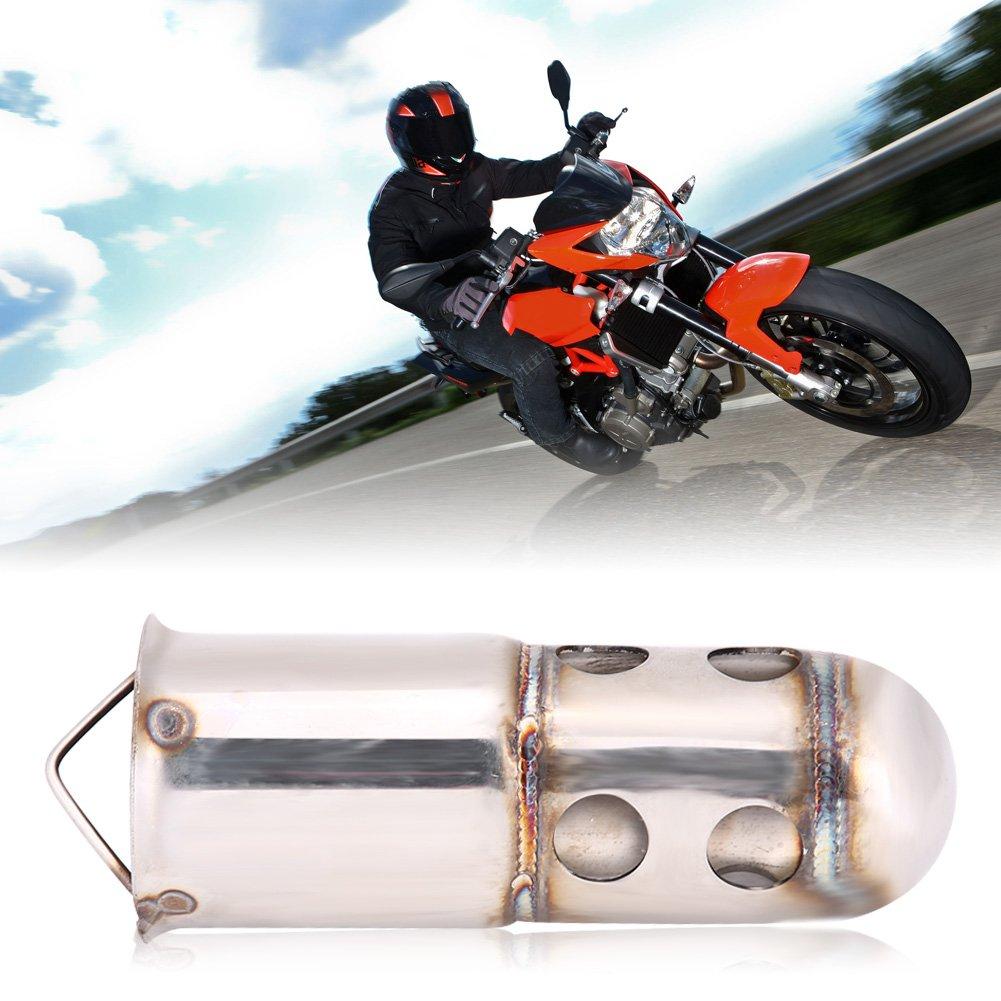 4 Keenso Universal 51mm Motorrad Auspuff Schalld/ämpfer DB Killer L/ärm Eliminator Motorrad Auspuff Tipps Schalld/ämpfer