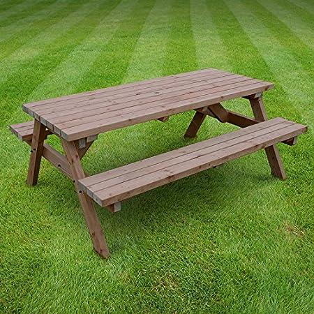 w amazon bench outdoor com trel benches garden dp table unattached vinyl dura picnic