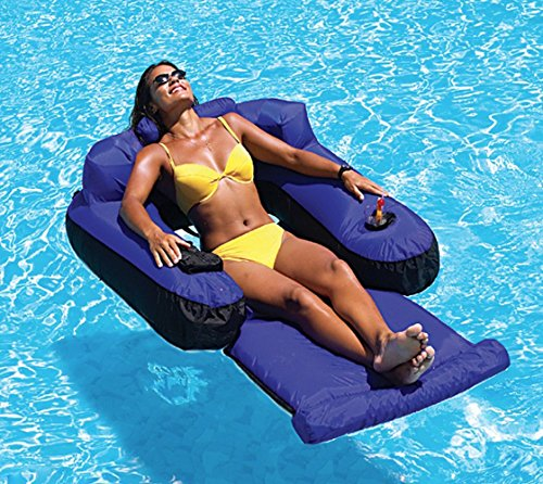 Inflatable Furniture Lounge, Nylon Fabric Material, Blue Color, Premium Quality, Perfect For Adults, Safe And Comfortable, Cup Slot, Sturdy & Durable Construction & E-Book Home Decor from Seu