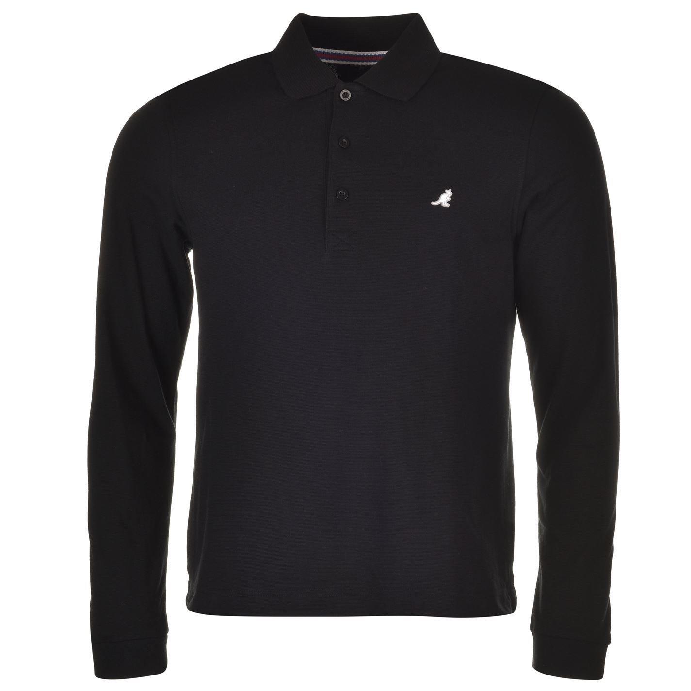 Kangol Mens Brit Long Sleeve Polo T Shirt Tee Top Classic Amazon
