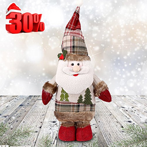 12 Days Deal Christmas Standing Figurine Toy Santa Claus Decorations Xmas Home Indoor Table Ornament 14.6 inch