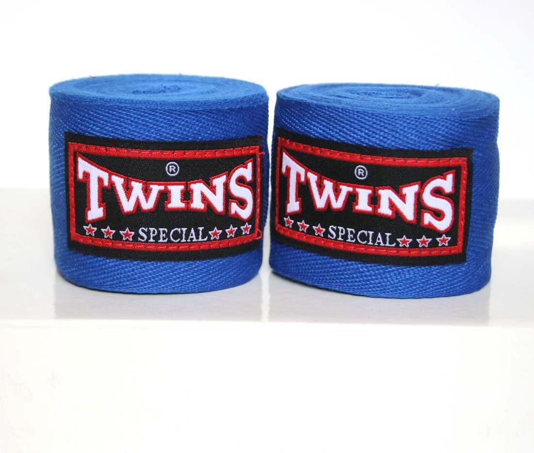 Equipo de boxeo Twins Muay Thai Boxeo Mano Wraps boxeo guantes de artes marciales, color azul Thailand