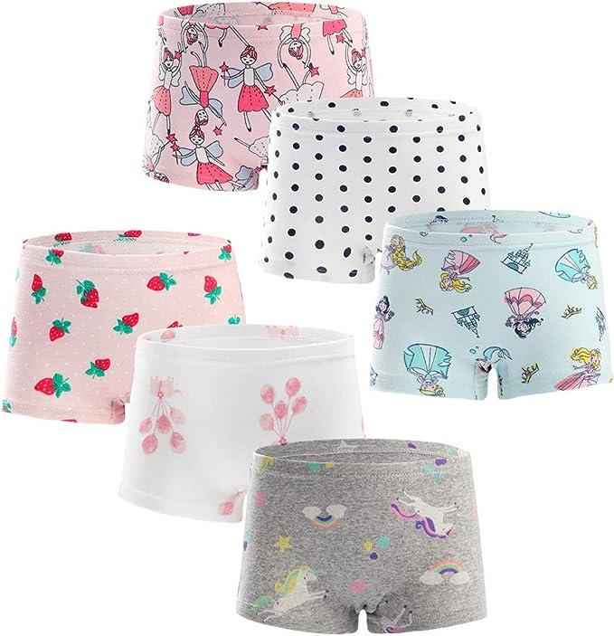 Benetia Girls Cotton Underwear 6-Pack
