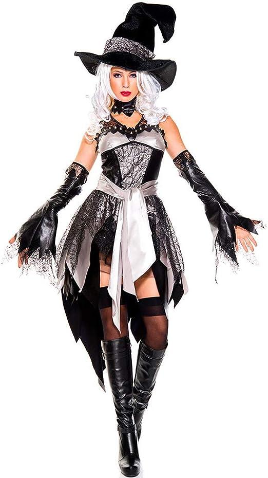 Sexy Bruja Cosplay Traje De Disfraces De La Mujer Diablo Halloween ...
