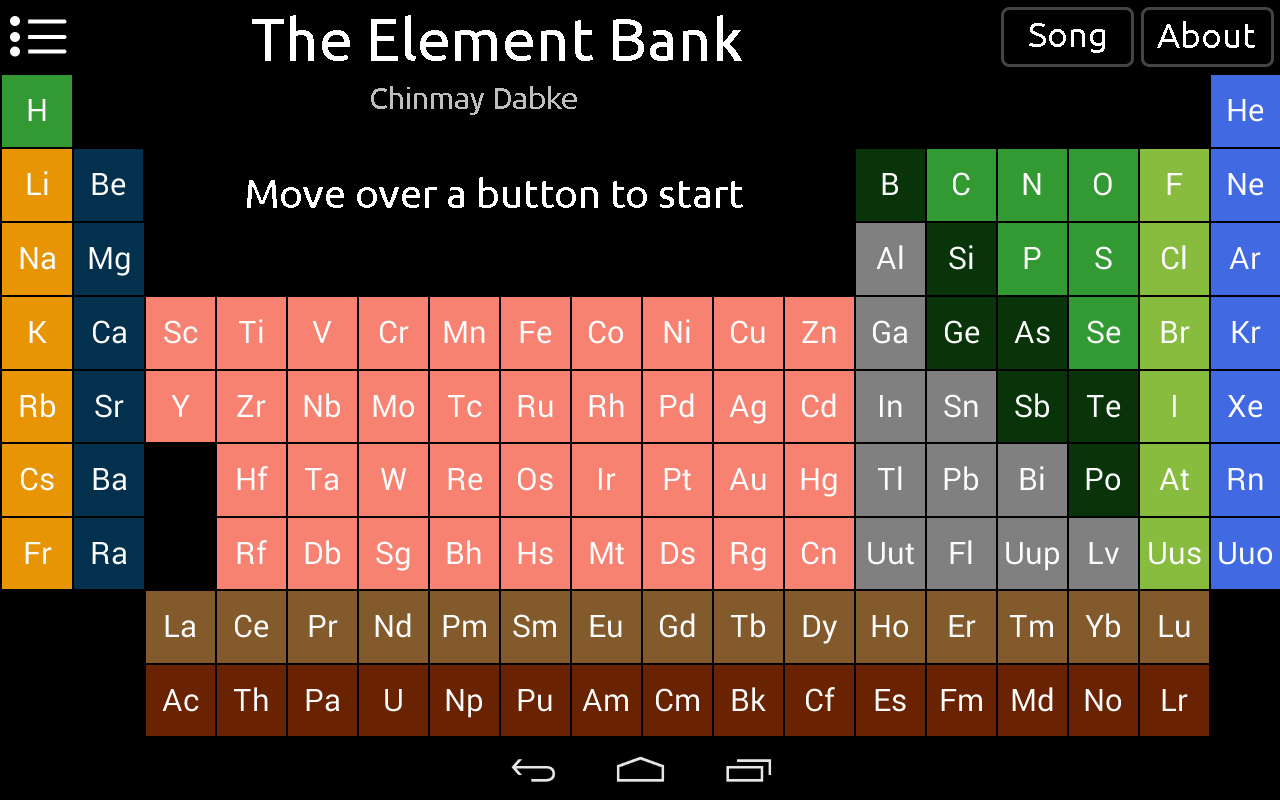 Amazon the element bank periodic table appstore for android urtaz Choice Image
