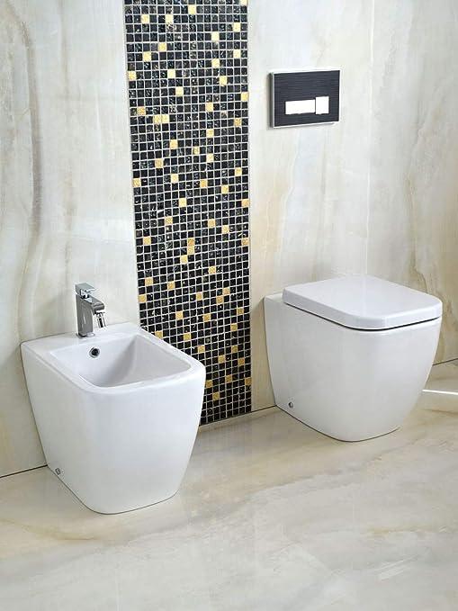 66b0272ba547 Yellowshop - Sanitari Bagno A Terra Pavimento Filo Muro Mod. Klass Vaso Wc  + Bidet
