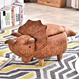 Cheap JOYBASE Kids Cute Animal Storage Ottoman Footrest Stool for Children and Adults, Ottoman (Dinosaur)