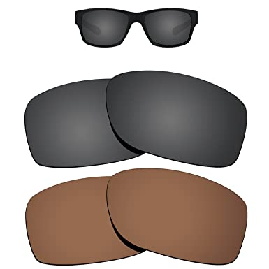 095a4d731de Amazon.com  Kygear Replacement Lenses Different Colors for Oakley Jupiter  Squared Sunglass Polarized Pack of 2  Clothing