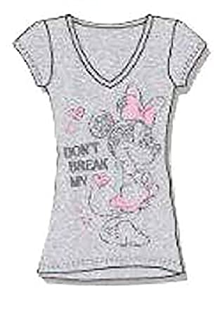 df57e51c1c6ad5 Image Unavailable. Image not available for. Color  Disney Classic Minnie  Mouse Womens Pajama V Neck T ...