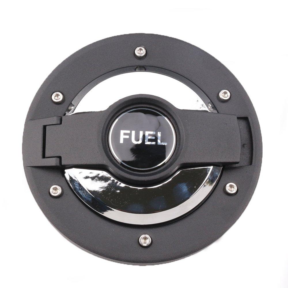 HOZAN Black Cap Gas Cover Fuel Filler Tank for Jeep Wrangler JK /& Unlimited JK 2D//4D Sahara Rubicon 2007-2017