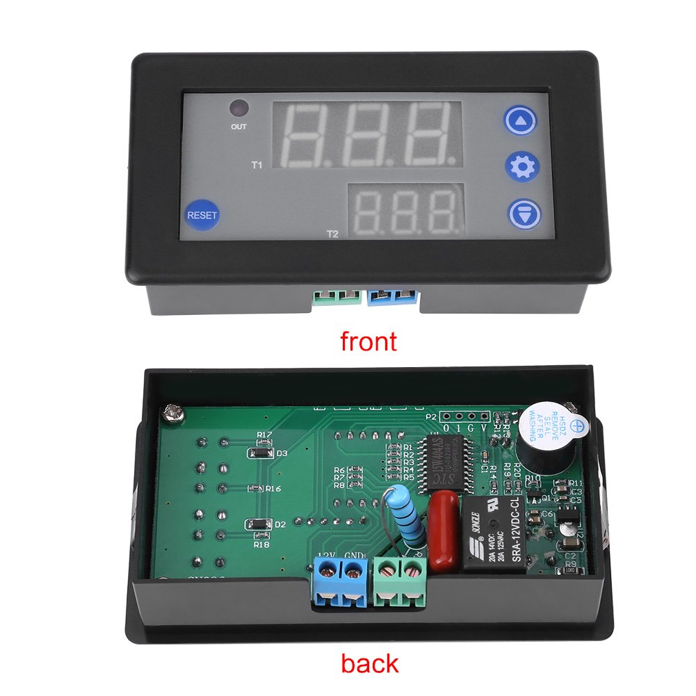 Multifunktions Digital Zyklus Twin Timer Verz/ögerungs Relaismodul Timing Switch Control DC 12V-24V
