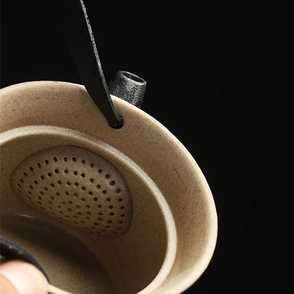 Tea sets Japanese Minimalist Black Ceramic Teapot, Travel Outdoor Travel Teapot and 6 Teacup, Kung Fu Tea Set of 8 by Tea sets (Image #6)