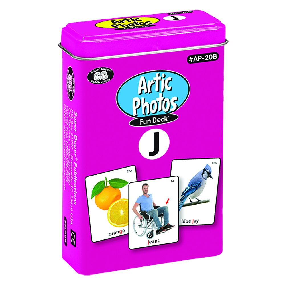 Super Duper Publications Articulation Photos J Fun Deck Flash Cards - Revised Photos Educational Learning Resource for Children by Super Duper Publications