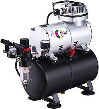 OPHIR 110V AS186A Pro Airbrush Kit with Airbrush Compressor
