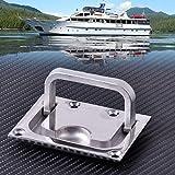 2Pcs 316 Stainless Steel for Boat Marine Caravan Flush Hatch Locker Cabinet Lift Pull Handle Hardware
