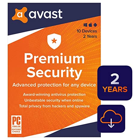 Avast Premium Security 2020 | Antivirus Protection Software | 10 Devices, 2  Years [PC/Mac/Mobile Download]