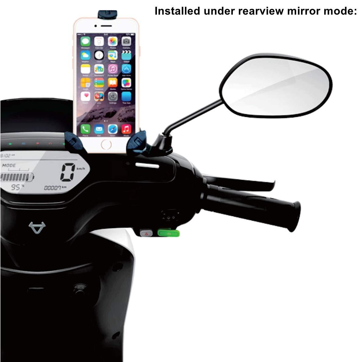 Amazon.com: DHYSTAR Soporte de teléfono para motocicleta ...