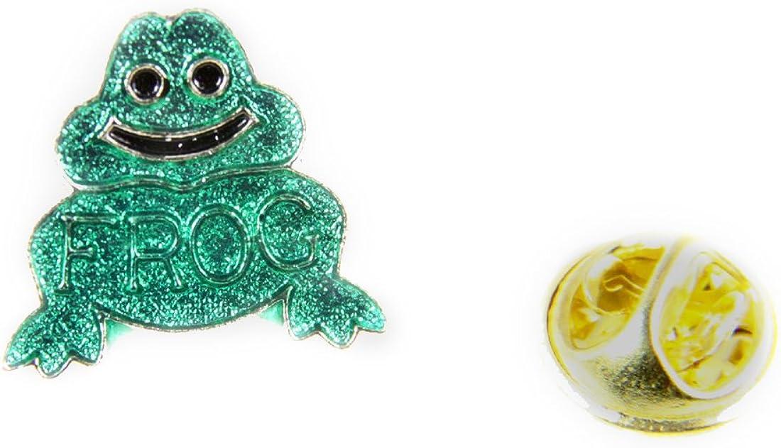 6030240 fielmente de rana confiar en dios Pin de solapa corbata ...