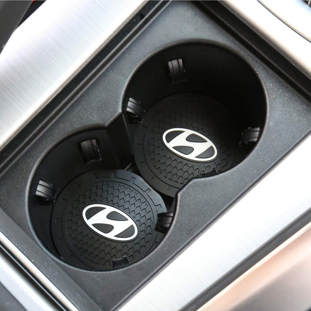 Bohemia Blue monochef Auto Sport 2.75 Inch Diameter Oval Tough Car Logo Vehicle Travel Auto Cup Holder Insert Coaster Can 2 Pcs Pack