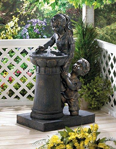 Garden Relaxation Fountain Outdoor Indoor Children Statues Water Pump Sculptures Pond Ornament Feng Sui Decorative