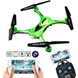 Kingtoys Waterproof Wifi FPV Quadcopter Drone with 0.3MP HD Camera JJRC H31 Headless Mode 360° Rolling Action 3D CF One Key Return RC Quadcopter RTF with LED Light for Night Flight