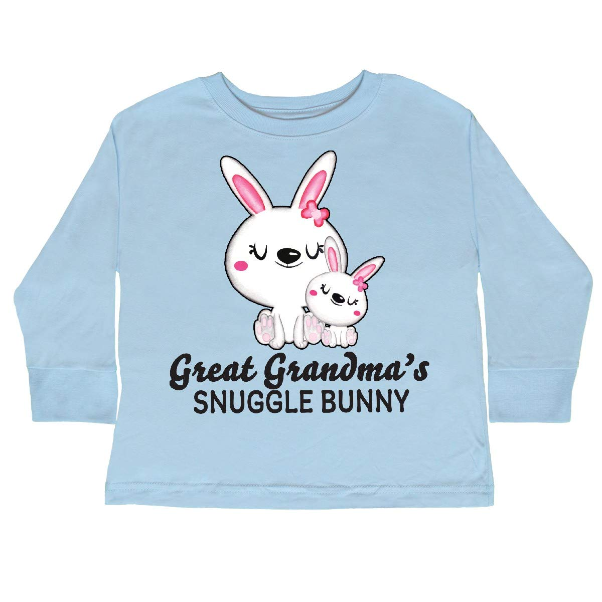 inktastic Great Grandmas Snuggle Bunny Easter Toddler Long Sleeve T-Shirt