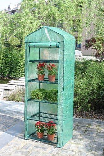 Portable Greenhouse W shelves, 5 Tier Green House New. Polyethylene Cover.