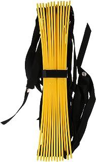 Sharplace 13échelons 7m Échelle d'agilité durable Sangles en nylon avec sac de transport pour Soccer Speed d'entraînement fitness bodybuilding jaune