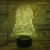 3D-illusionslampa LED nattlampa Game of Thrones USB beröringssensor barn barn gåva dekorativ Game of Thrones sovrum…
