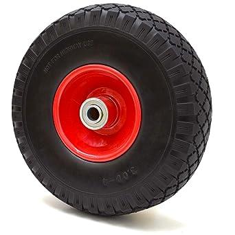 eyepower Rueda llena de PU 3.00-4 250x70 mm neumático sin aire para carretillas