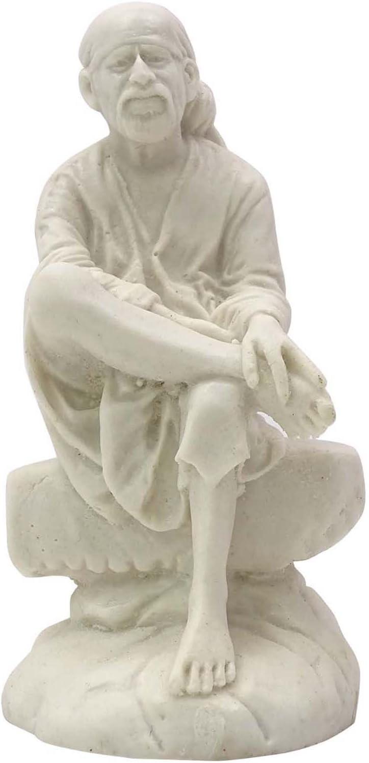 Resin Lord Sai Baba Statue Car Dashboard Décor Indian Religious Figurine