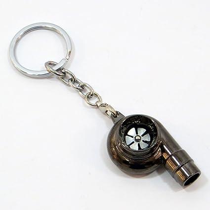 Llavero Metal turbina coche puerta llaves llave llavero Turbo Car Keys nero fucile