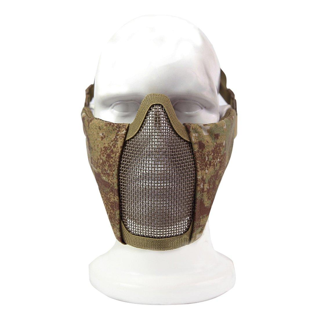 Lommer Acero Malla Airsoft M/áscara taktisch CS M/áscara M/áscara Facial para Airsoft Nerf Parte