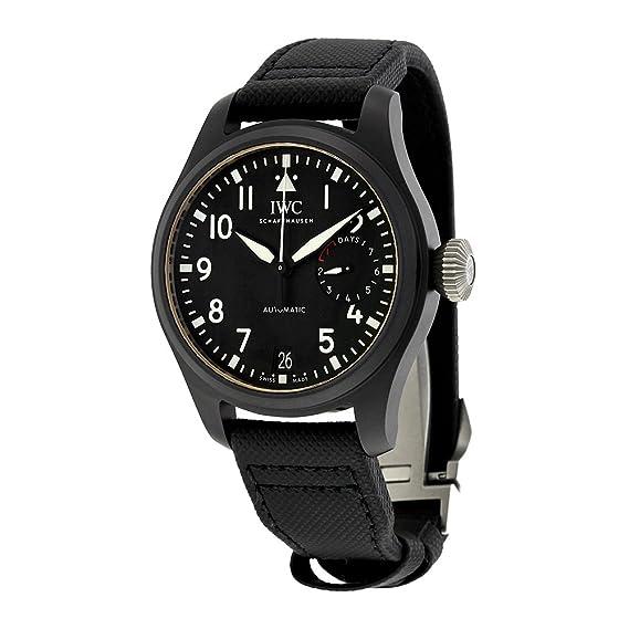 IWC gran piloto Top Gun automático negro Dial Mens Reloj iw502001