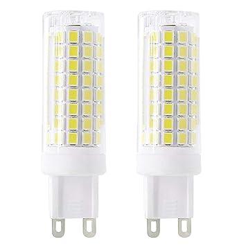 Nuevo tipo G9 LED bombillas 6 W equivalente a 75 W bombilla halógena 95 V-240 V 360 grados Blanco 6000 K (2 unidades): Amazon.es: Hogar