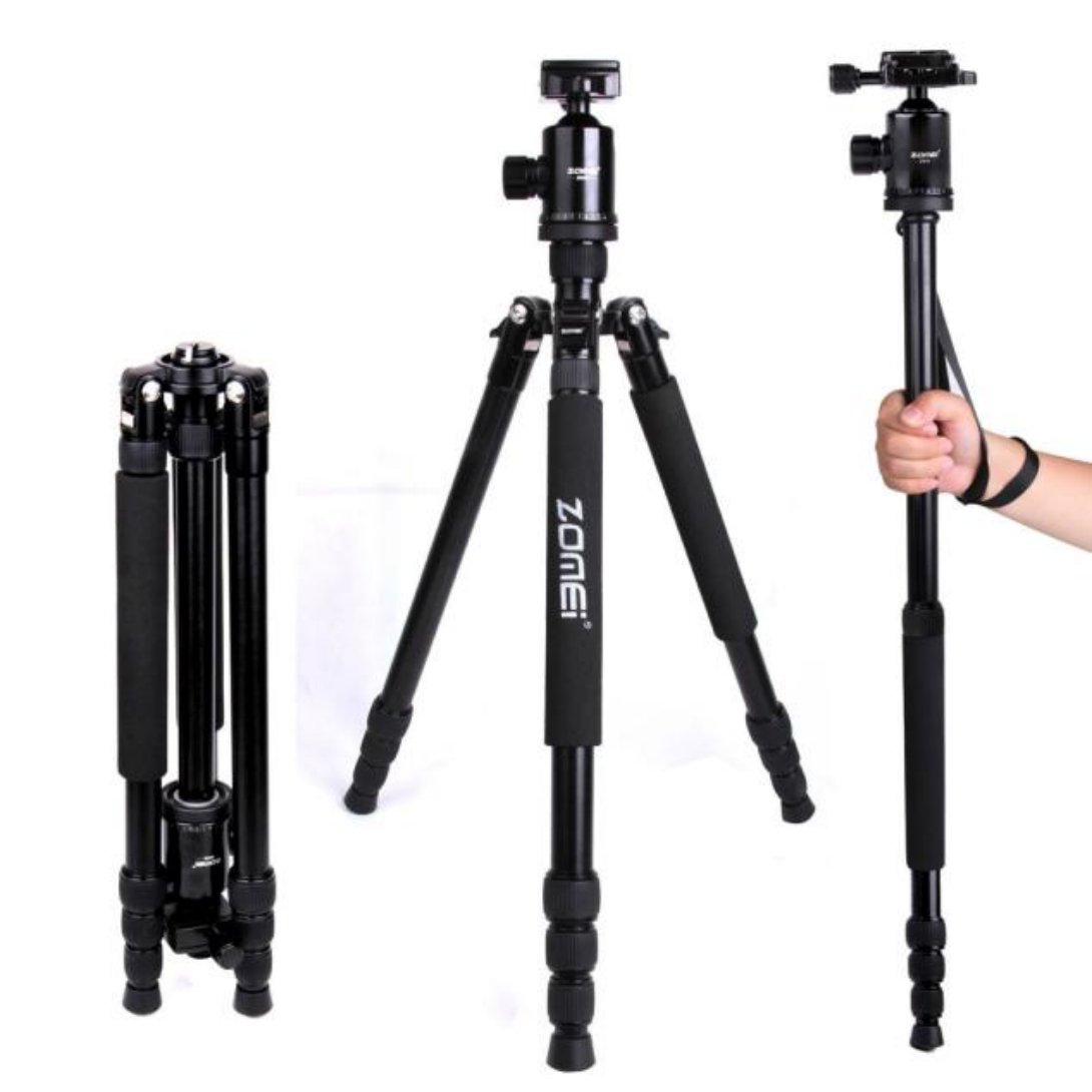 Wensltd Zomei Z818 Portable Camera Magnesium Aluminium Tripod +Ball Head+carry Bag (Black)