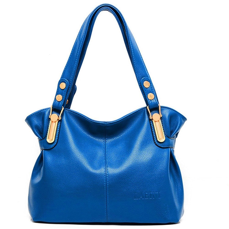 KaiSasi Womens Fashion Leather Hand Shoulder Messenger Bag Big Bag