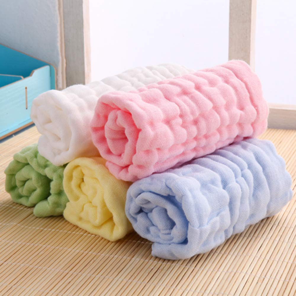 zuf/ällige Farbe Goodplan 1 St/ücke Baby Handt/ücher Ultra-Soft Wiederverwendbare Wasseraufnahme Waschlappen f/ür Jungen M/ädchen Travel Bathing Kit