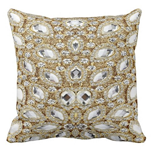 Rhinestone Bling Art Print Design Pillow Case (Pillow Rhinestone)
