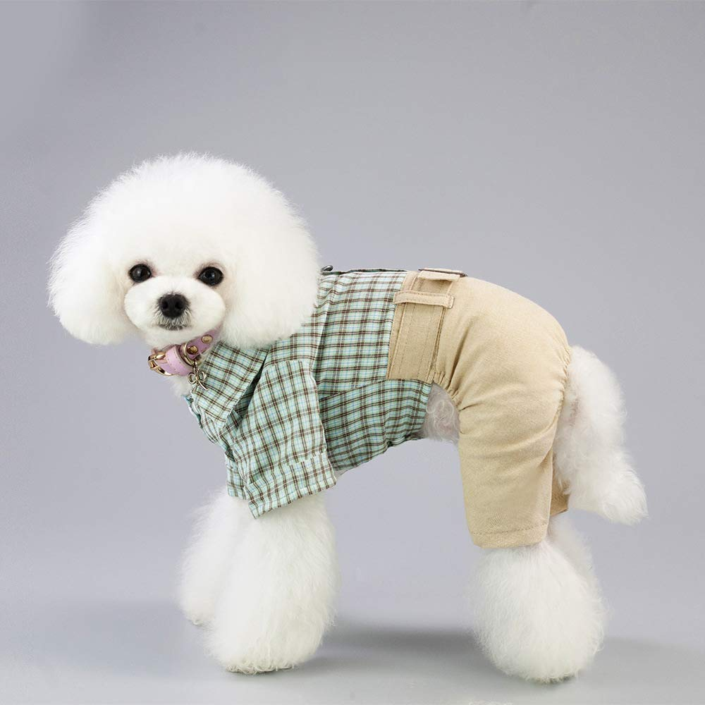 Green Medium Green Medium Dog Clothes cat Spring Summe, Soft Cotton Puppy Vest Pet Clothes Summer Sweatshirt,Pet Puppy Polo Dog Clothe,4 Legs Pet Clothes,Green,M