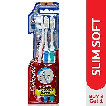 2 Colgate delgado suave cepillo de dientes (Pack de 3) – 17 x fino