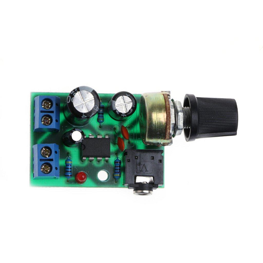 Lm386 Mini Audio Power Amplifier Board Dc 3v12v 5v Lowvoltagemicrophonepreamp Preamplifier Audiocircuit Module Adjustable Volume Home Theater