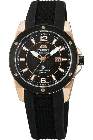 Orient Reloj Analógico para Mujer de Automático con Correa en Caucho FNR1H003B0: Amazon.es: Relojes