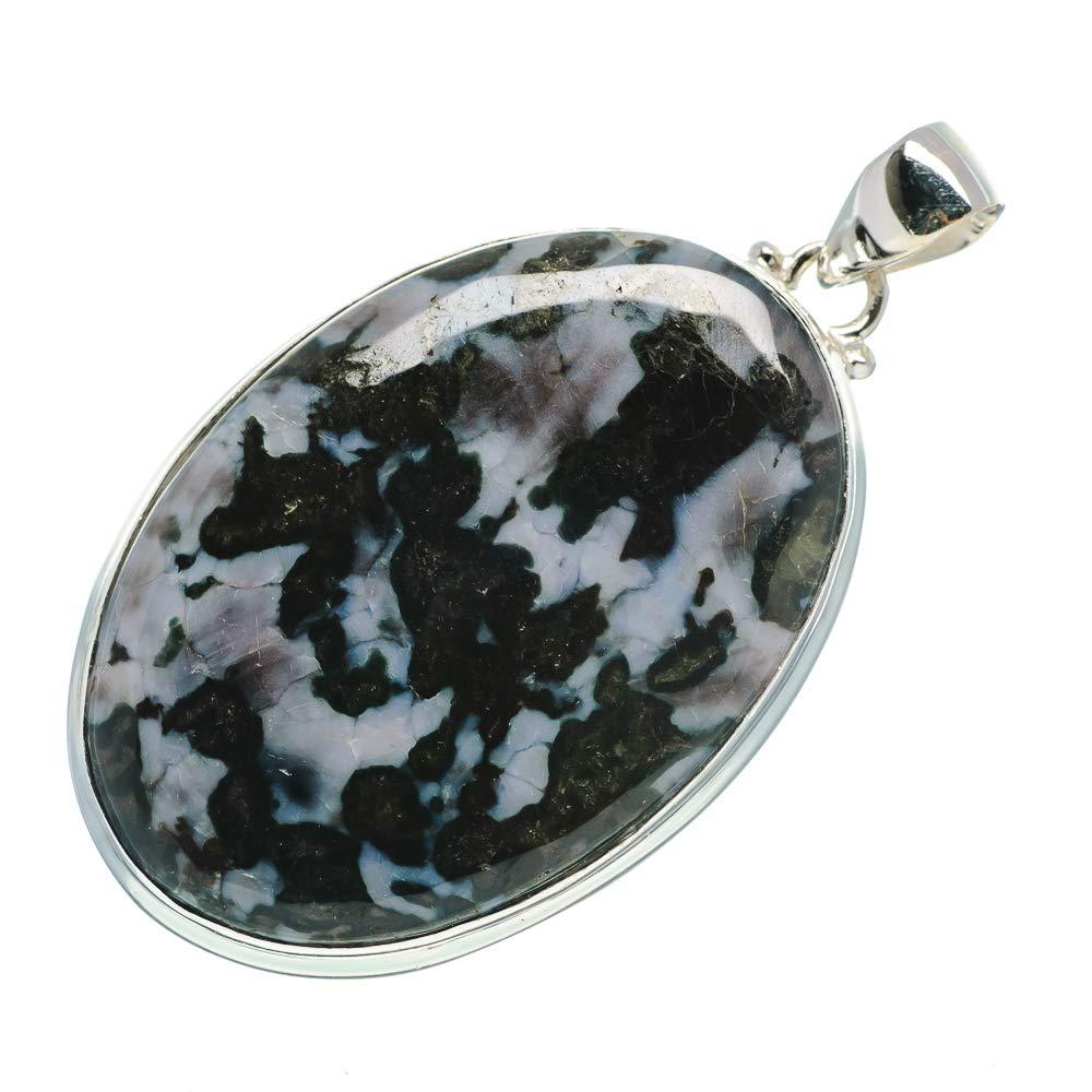 Vintage PD697794 Bohemian - Handmade Jewelry 925 Sterling Silver Ana Silver Co Gabbro Pendant 2 1//8