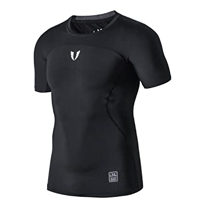 FIRM ABS Men's Short Sleeve Running Fitness Workout Compression Base Layer T Shirt