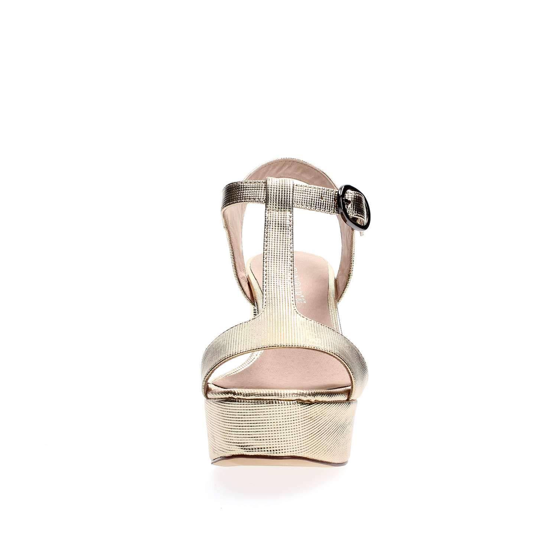 Cafènero ND908, Sandalo Donna con Tacco Tacco Tacco in Similpelle Laminato Stampato | lusso  286936