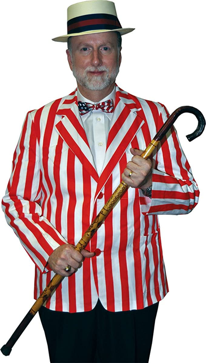 sc 1 st  Amazon.com & Amazon.com: Morris Costumes Menu0027s Roaring Striped Blazer: Clothing