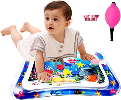 Summer Inflatable Water Cool Play Mat Infants Toddler Fun Time Activity Center