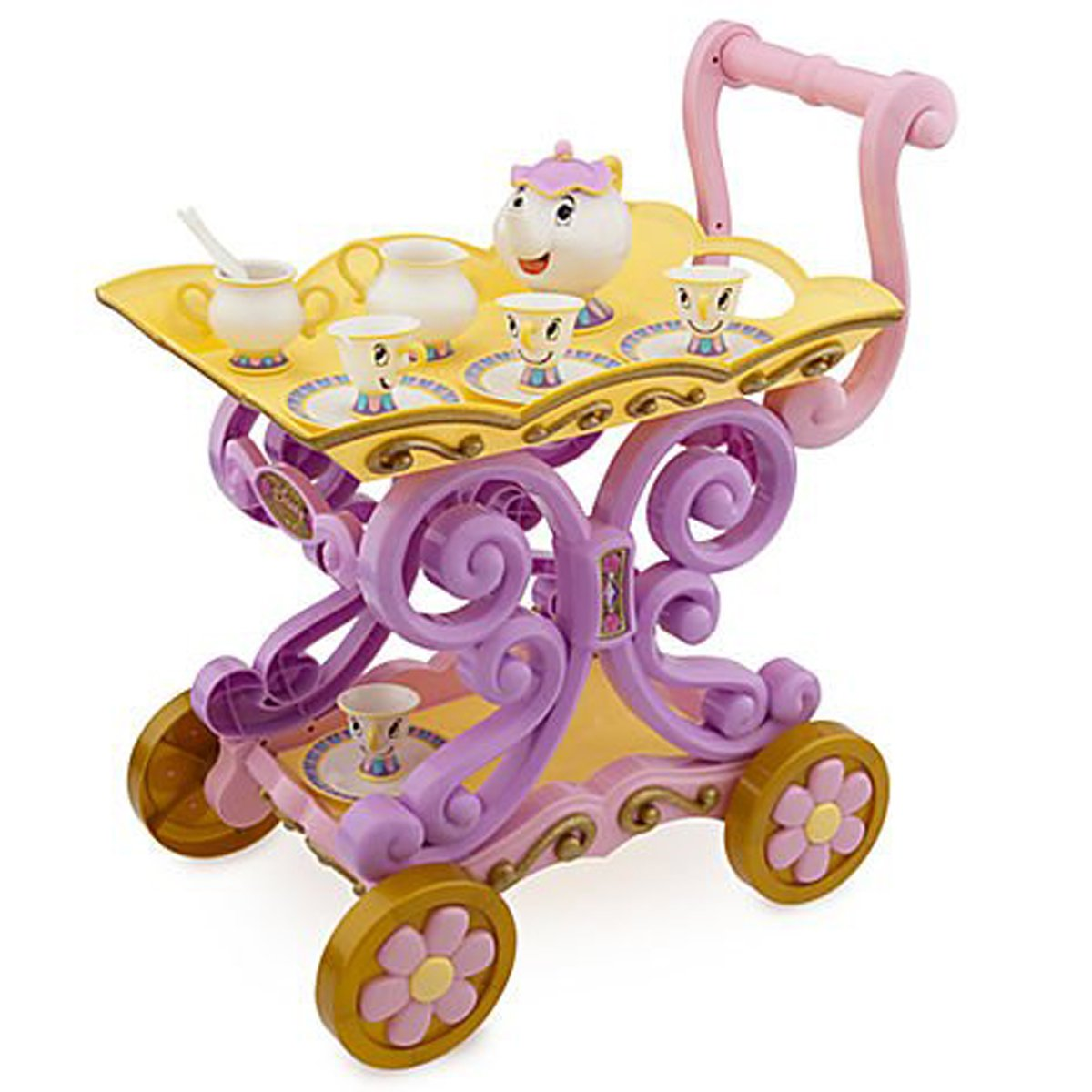 Disneys Princess Belle Enchanted Talking Tea Cart Mrs. Potts and Chip