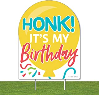 product image for Big Dot of Happiness Honk, It's My Birthday - Outdoor Lawn Sign - Birthday Party Parade Yard Sign - 1 Piece